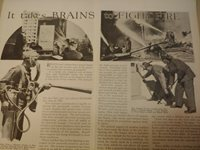 OCT 1932 MAGAZINE PAGE #A289- IT TAKES BRAINS TO FIGHT FIRE- 3 PGS