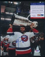 KEN MORROW PSA/DNA 8X10 CERTIFIED AUTO AUTHENTIC - NEW YORK ISLANDERS - A88