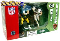BRETT FAVRE vs BRIAN URLACHER Deluxe NFL 2 Figure Pack McFarlane Sportspicks (Sub-Standard Packaging)