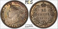 Canada 1870 25C PCGS AU50 Nice detail with traces of luster