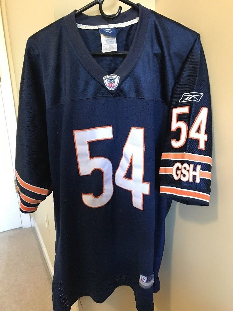 purchase cheap c53d6 3e026 AUTHENTIC BRIAN URLACHER CHICAGO BEARS JERSEY SIZE 54 SEWN ON REEBOK NFL #54