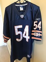 purchase cheap f18b5 61a4f AUTHENTIC BRIAN URLACHER CHICAGO BEARS JERSEY SIZE 54 SEWN ON REEBOK NFL #54
