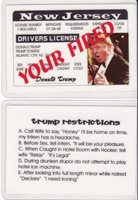 Towers -trump Trump Jersey New Drivers Donald President