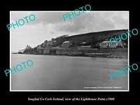 OLD LARGE HISTORIC PHOTO OF YOUGHAL CORK IRELAND VIEW OF LIGHTHOUSE POINT c1900