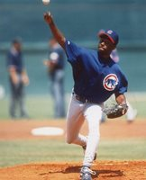 KEVIN FOSTER CHICAGO CUBS UNSIGNED 8X10 PHOTO