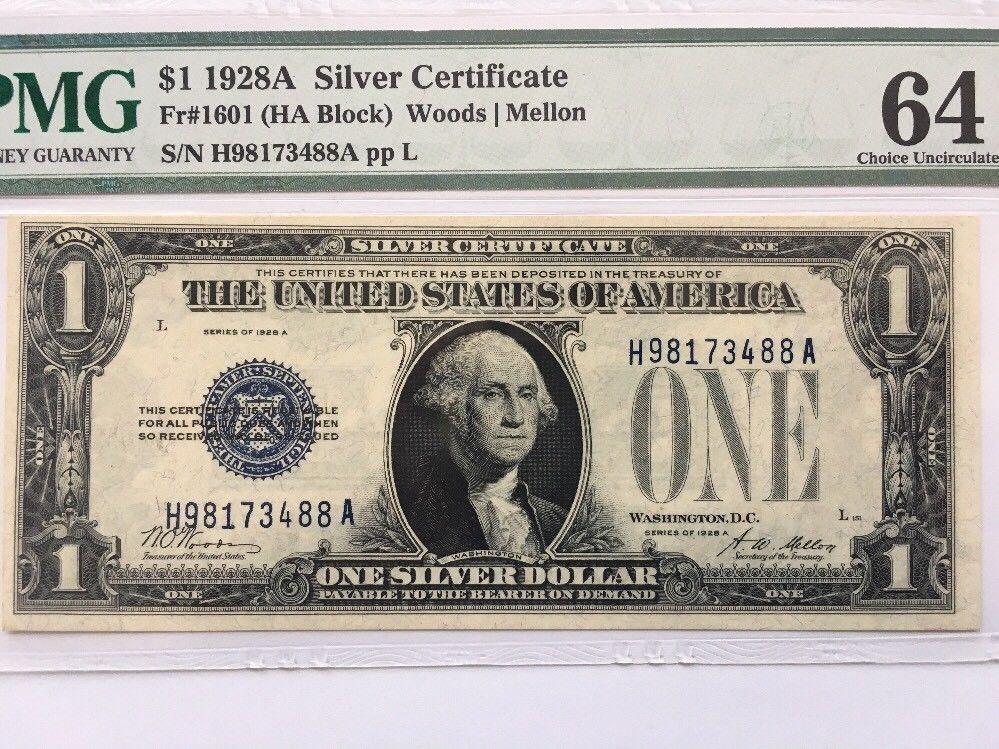 1928 1 One Dollar Bill Funny Back Silver Certificate N
