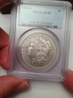 1884-S Morgan Silver Dollar - PCGS AU 55 - Magnificent PQ 55 - Spectacular Coin!