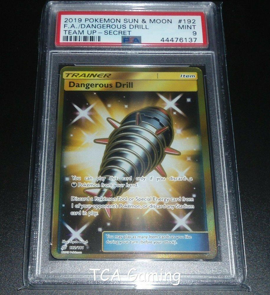 Team Up Set 2019 Uncommon Pokemon Card Dangerous Drill 138//181 - NM