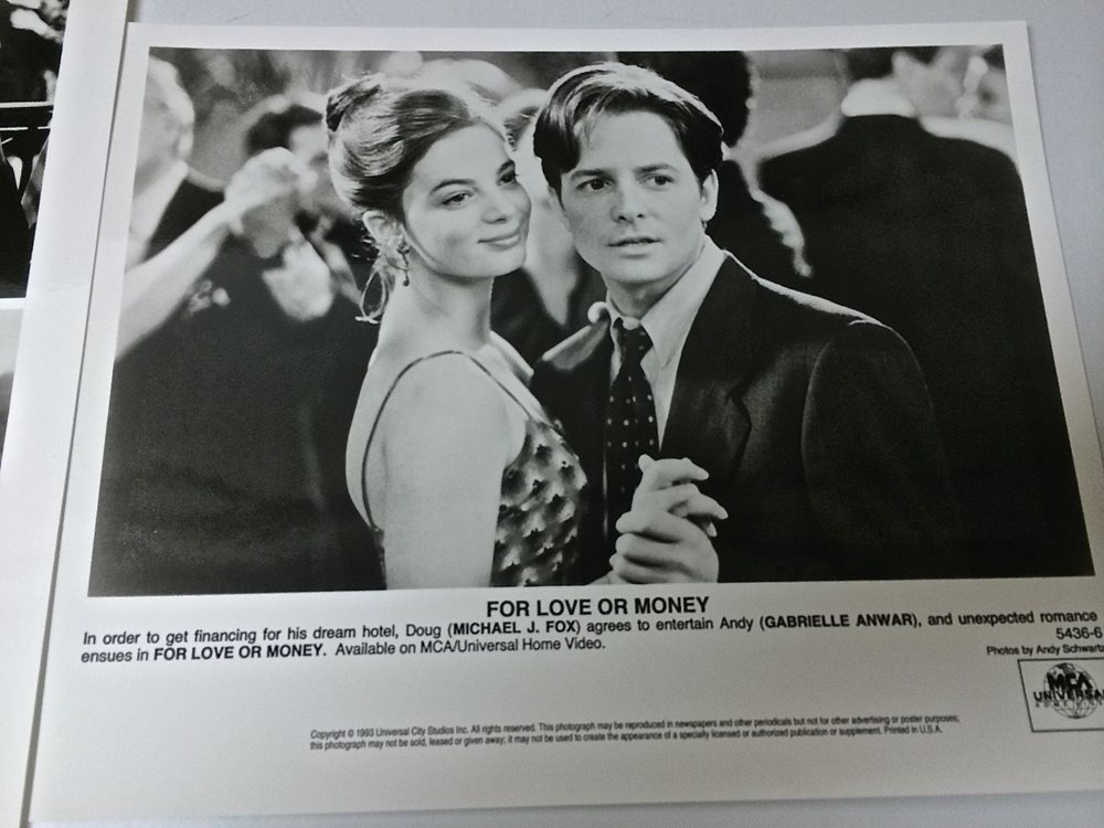 Two Vintage Movie Stills Of For Love Or Money With Mic