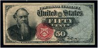 F1376 50c Stanton Extremely Fine. A wonderful circulated example.