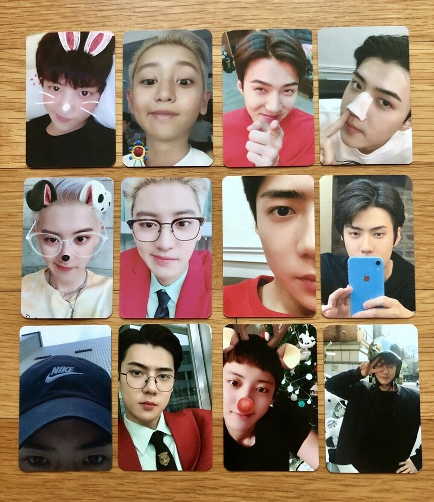 Exo Sc 1st Mini Album What A Life Official Photocards