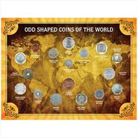 17 Unique Odd Shaped Coins of the World Collection Religions Historical Figures