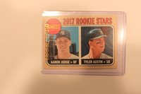 2017 Topps Aaron Judge and Tyler Austin # 214 Rookie Card Brand New 1 card