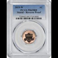 PCGS Reverse PR69RD 2019-W Lincoln Cent