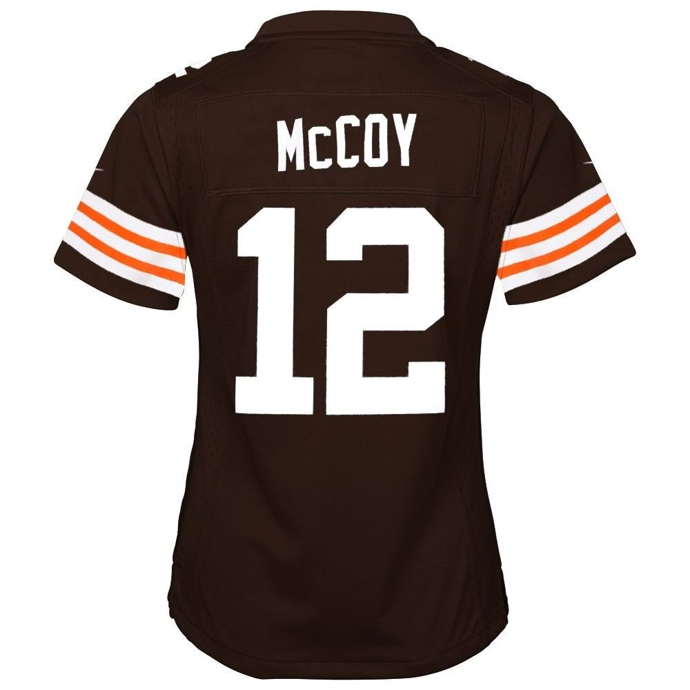 sports shoes c0493 b16fd Colt McCoy Cleveland Browns Nike Home Brown Jersey Girls Youth (S-XL)