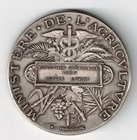 FRANCE 1889 UNIVERSAL EXPOSITION BOVINE MINISTRY OF AGRICULTURE SILVER MEDAL