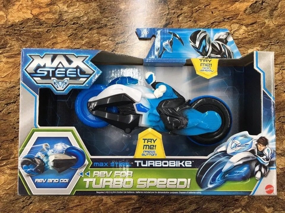 NEW IN BOX!! Max Steel TurboBike