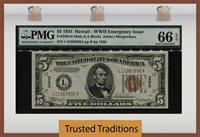 1963 $1 NEW YORK FRN PMG GEM UNCIRCULATED 66 EPQ BANKNOTE SCARCER B//B BLOCK