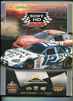 California Speedway NASCAR Stock Car Race Program