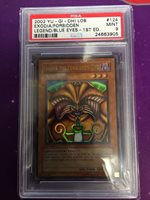 Yugioh Exodia The Forbidden One LOB-124 1st Ed Ultra Rare PSA Graded 9 Fast Ship