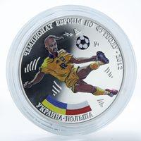 Transnistria 15 rubles Football Championship Ukraine - Poland coin 2012