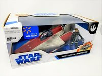 Star Wars Green Leader A-Wing Fighter with Figure Rare MIB