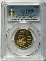 Saint Martin 2004 Osprey 20 Euro Gold Essai Coin PCGS SP68 RARE