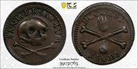 (c.1650) Liege Token Renesse-72 Skull and Crossbones PCGS AU55 *1046*
