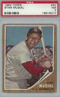1962 Topps Baseball #50 Stan Musial PSA 7 (NM) *6317