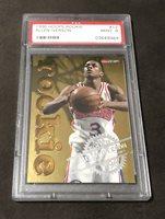 1996 96-97 Hoops Rookie Allen Iverson #12 Gold Foil RC Graded PSA 9 Mint SIXERS