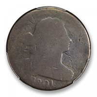 1801 1C 3 Errors Draped Bust Cent PCGS FR2BN