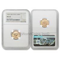 Peru 1966 ZBR 1//2 Libra Gold NGC MS64 SKU#5734