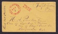 US Stampless,1852 East Pepperell, Mass, FREE JA Tucker