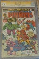 DEFENDERS 9 SS Signed STAN LEE 1st Avengers vs Defenders Marvel Comic CGC 9.6 NM