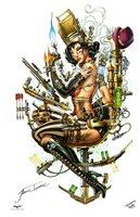 LADY MECHANIKA ART PRINT Signed by Artist NEI RUFFINO