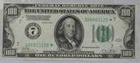 Fr.2150-G* 1928 $100 Federal Reserve Note Chicago Star Note XF