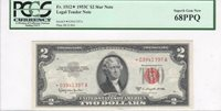 $2 Legal Tender,1953C, FR1512*, Granahan-Dillon, PCGS 68PPQ **STAR NOTE**