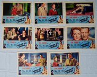 1956 Crime Noir 'Murder on Approval' Tom Conway, Lobby Card Set Original