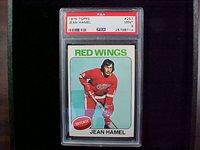 1975 Topps hockey #257 Jean Hamel RED WINGS. PSA-9 MINT.
