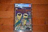 "DC Worlds Finest Comics #74. CGC 7.0 - SUPERMAN-BATMAN ""CONTEST OF HEROES"" 1955"