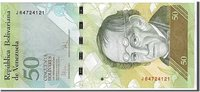 50 Bolivares 2009 Venezuela Banknote