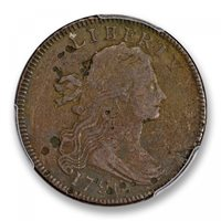 1796 1C LIHERTY Sheldon 104 Draped Bust Cent PCGS MS97BN