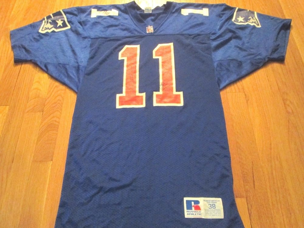 size 40 52b5f 113fd VINTAGE RUSSELL ATHLETIC NFL NEW ENGLAND PATRIOTS DREW BLEDSOE ROOKIE  JERSEY 38