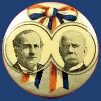 William J. Bryan and Adlai E. Stevenson Democratic Presidential Political Campaign Pinback Button 1900
