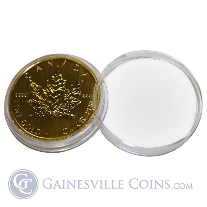 ~3 Direct Fit 30mm Coin Capsule For Canadian 1 oz Gold or Platinum Maple Leaf