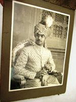Antique Indian Royalty Photography Album King Raja Wedding Ceremony Collectible""