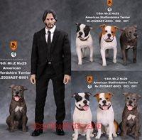 Mr.Z American Staffordshire Terrier AST-B001 1//6 Animal Model Dog Resin Statue H