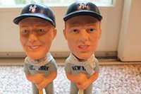 Mickey Mantle and Roger Maris matched pair Sams Bobblehead matched set mint