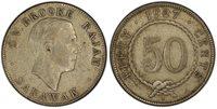 SARAWAK Charles V. Brooke. 1927-H AR 50 Cents. PCGS XF45. Heaton KM 19.