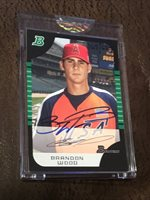 2005 Bowman Brandon Wood Auto 2006 bowman originals buyback /627 Autograph